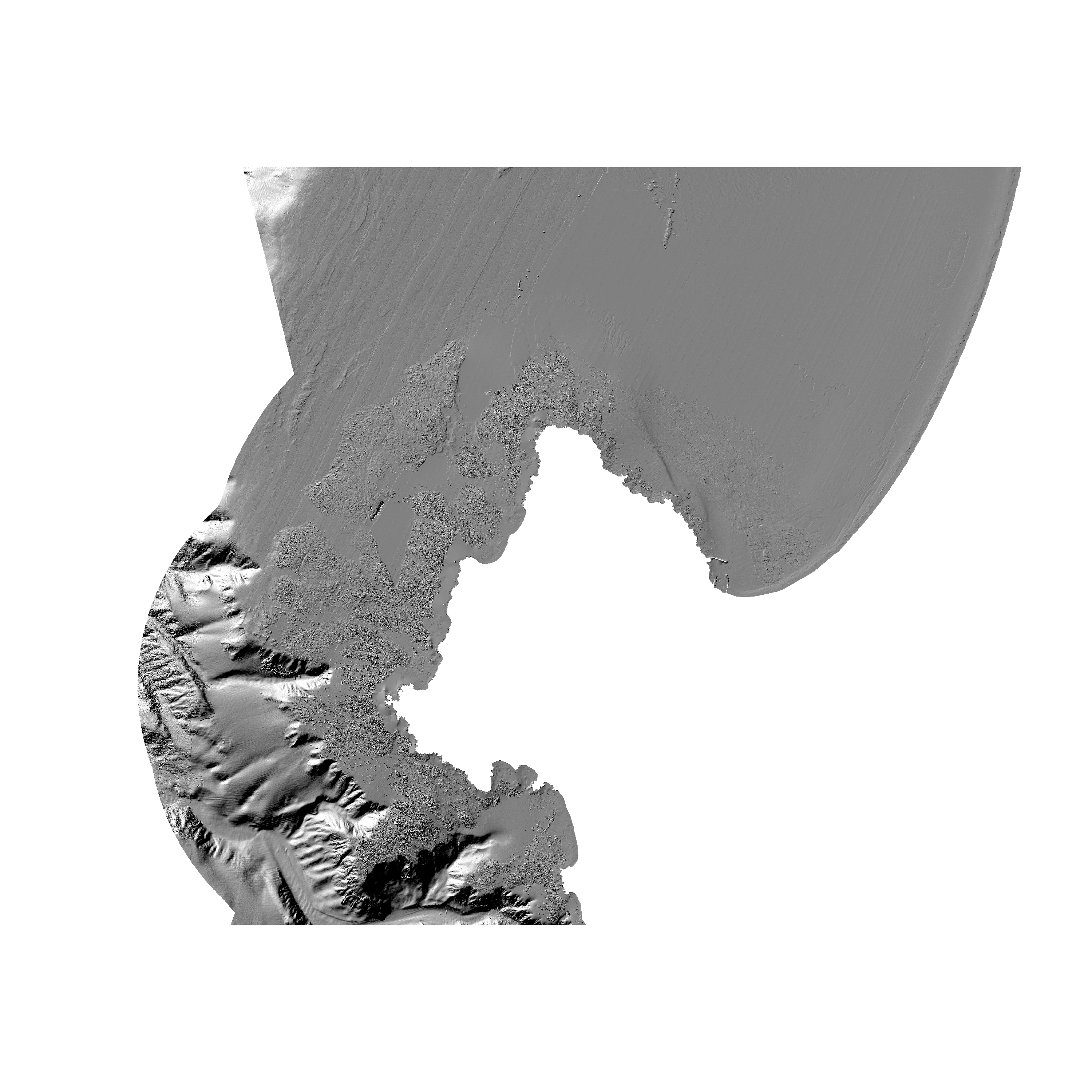 Bathymetry map of Offshore of Monterey.