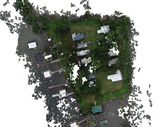 Detailed-view of point cloud for Charles Point
