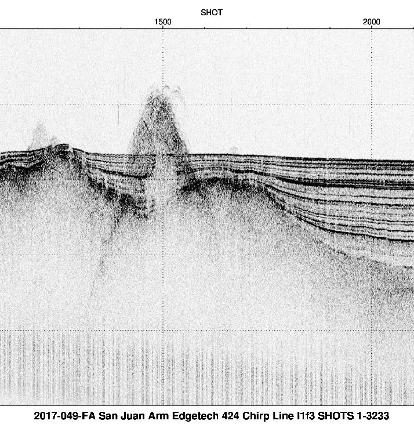 Browse image of example EdgeTech 424 chip seismic profile from Lake Powell.